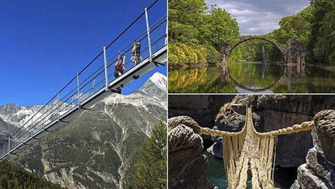 صور مدهشة لأجمل جسور المشاة حول العالم