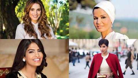 صور أجمل وأشهر زوجات شيوخ العرب وأعمالهن