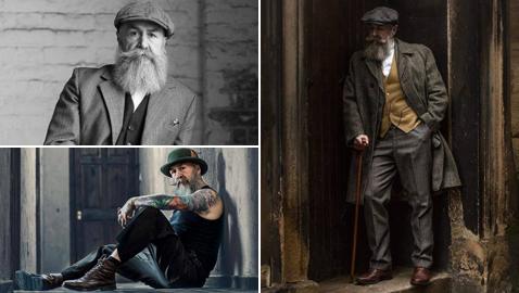 مجموعة صور لرجل خمسيني أصبح عارض أزياء بالصدفة!