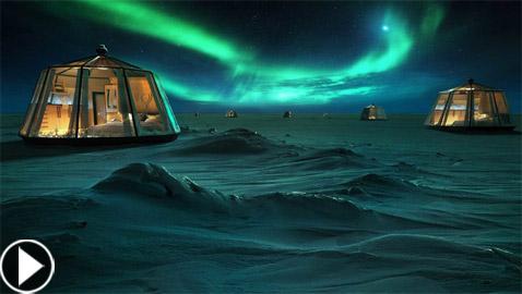 أكواخ زجاجية لمشاهدة أضواء القطب الشمالي بـ104 ألف دولار لليلة