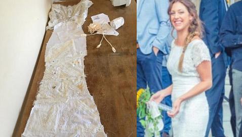 تصنع فستان زفافها مجاناً بفضل حيلة ذكية