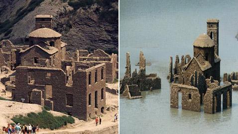 ظهور قرية (الأشباح الضائعة) بعد 63 عاما على اختفائها! صور