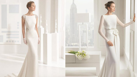 أجمل موديلات فساتين زفاف بسيطة لحفل زفافك منزلي
