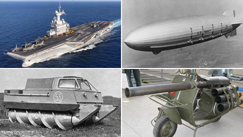 بالصور: تعرفوا إلى 10 من أفشل الاختراعات العسكرية عبر التاريخ